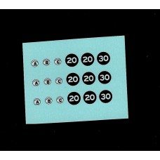 Corgi 1462 Accessories - Speed Limit Signs