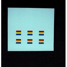 Dinky No 600 Series Military Vehicle Signs - Blue/Yellow/Red Horizontal