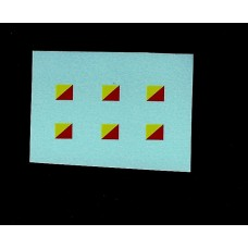 Dinky No 600 Series Military Vehicle Signs - Red/Yellow Diagonal